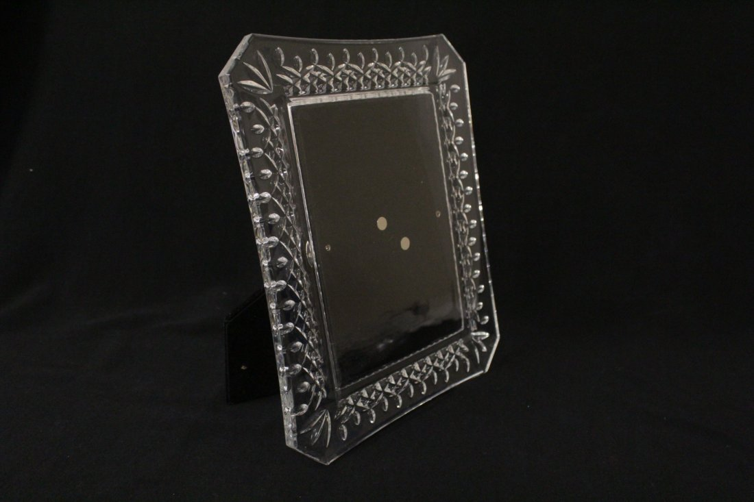 4 crystal picture frames, 2 by Waterford - 3