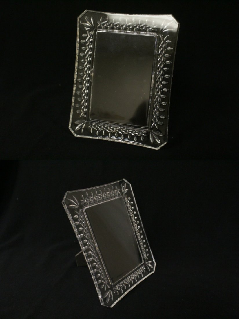 4 crystal picture frames, 2 by Waterford - 9