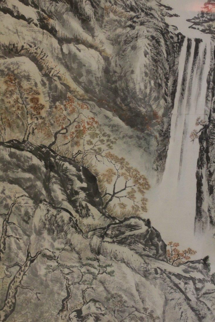 "Framed watercolor ""mountain scene"" - 10"