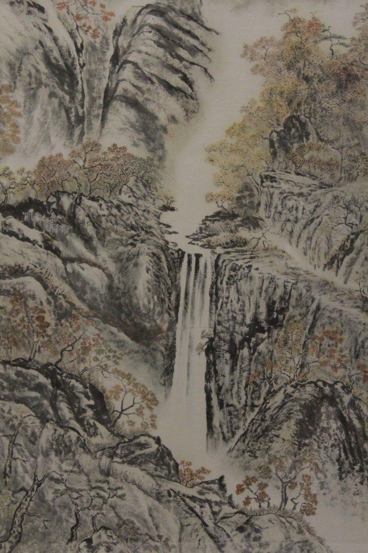 "Framed watercolor ""mountain scene"" - 3"
