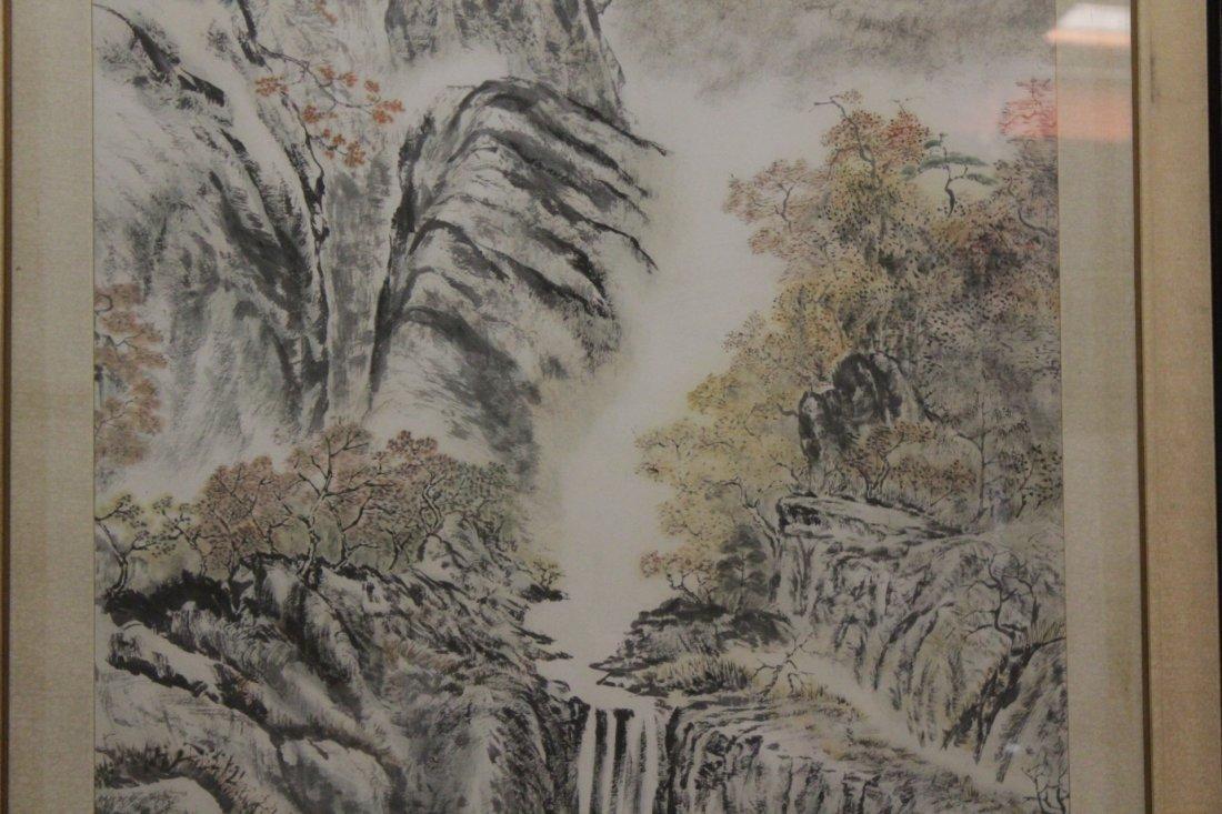 "Framed watercolor ""mountain scene"" - 5"