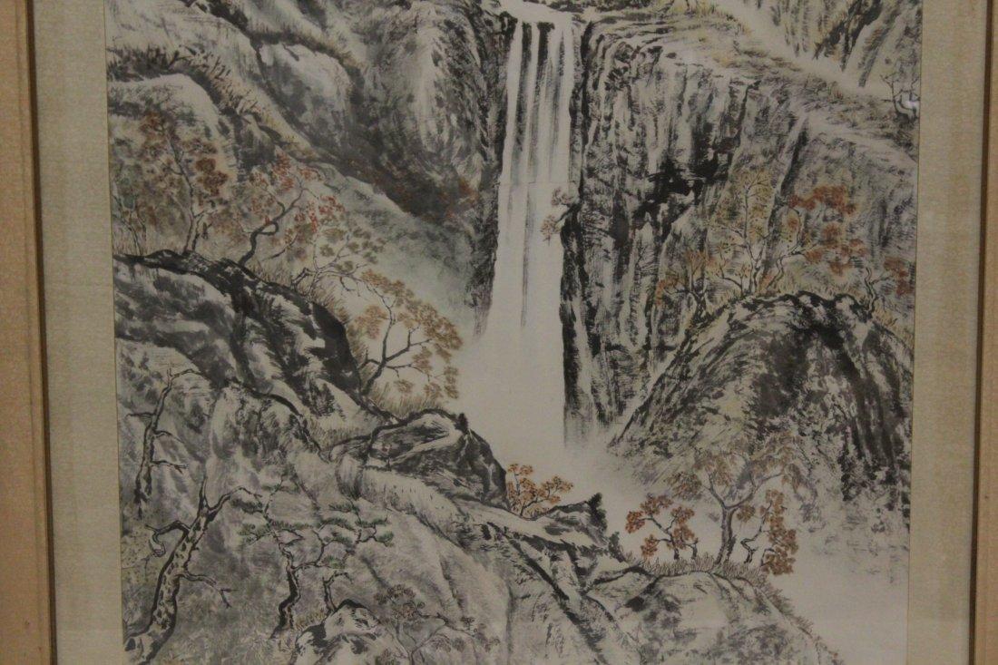 "Framed watercolor ""mountain scene"" - 6"