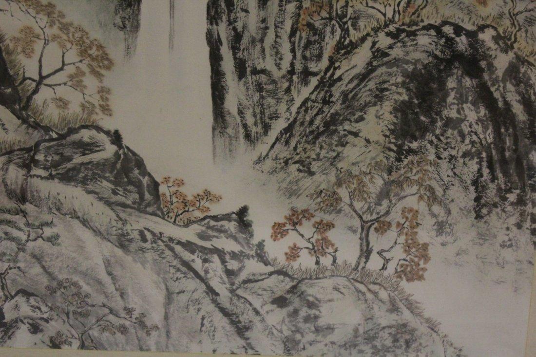 "Framed watercolor ""mountain scene"" - 8"