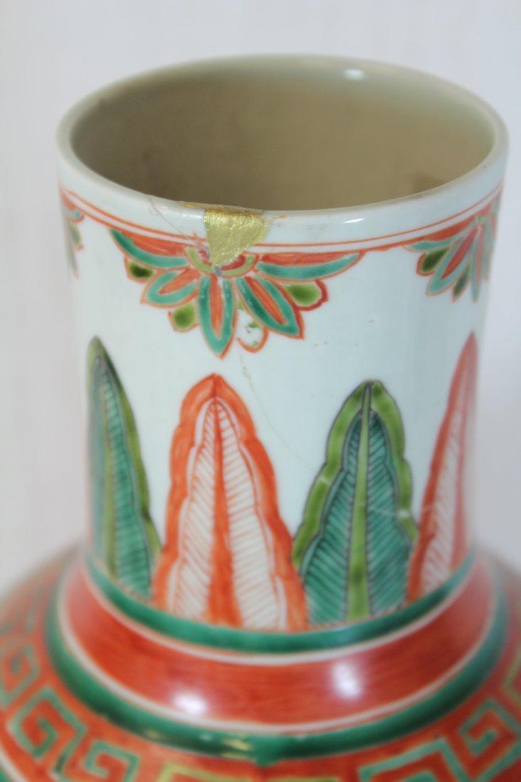 Wucai gourd shape porcelain vase - 10