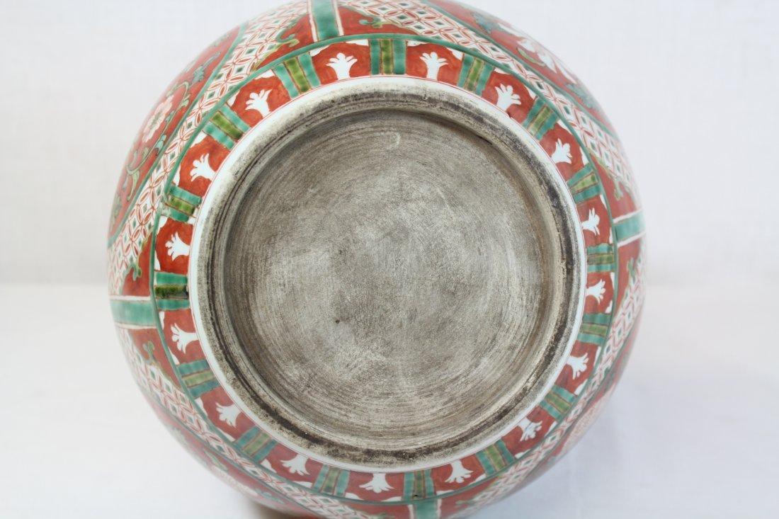 Wucai gourd shape porcelain vase - 5