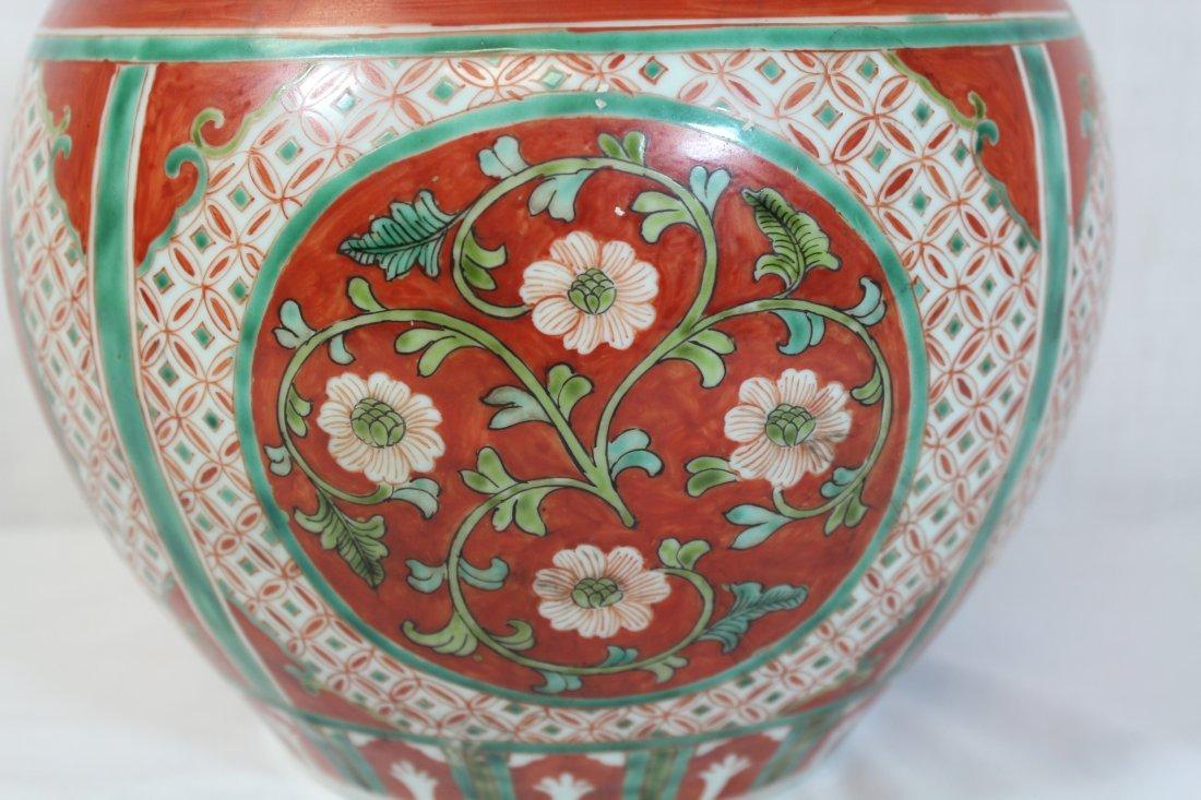 Wucai gourd shape porcelain vase - 6