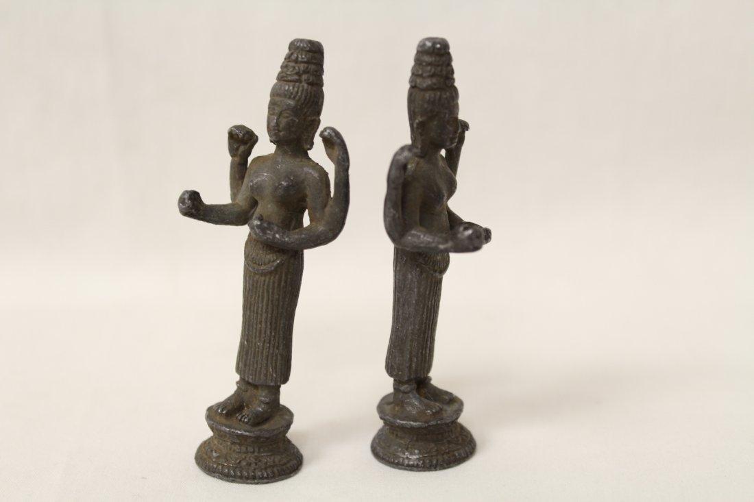 3 antique India bronze sculpture of deity - 3