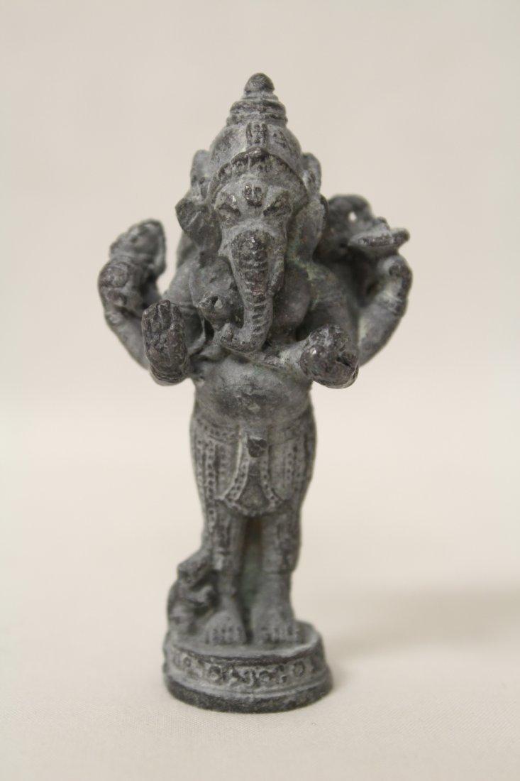 3 antique India bronze sculpture of deity - 6