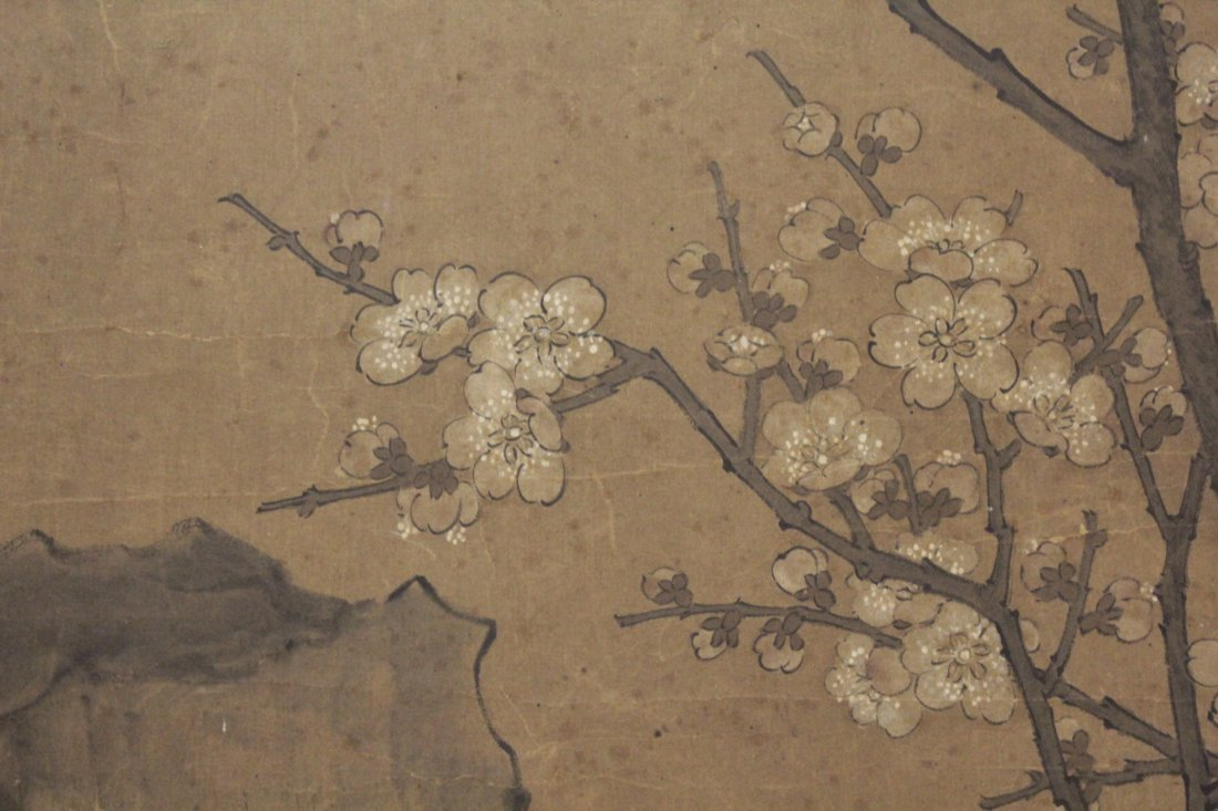 Antique Chinese watercolor on paper - 9