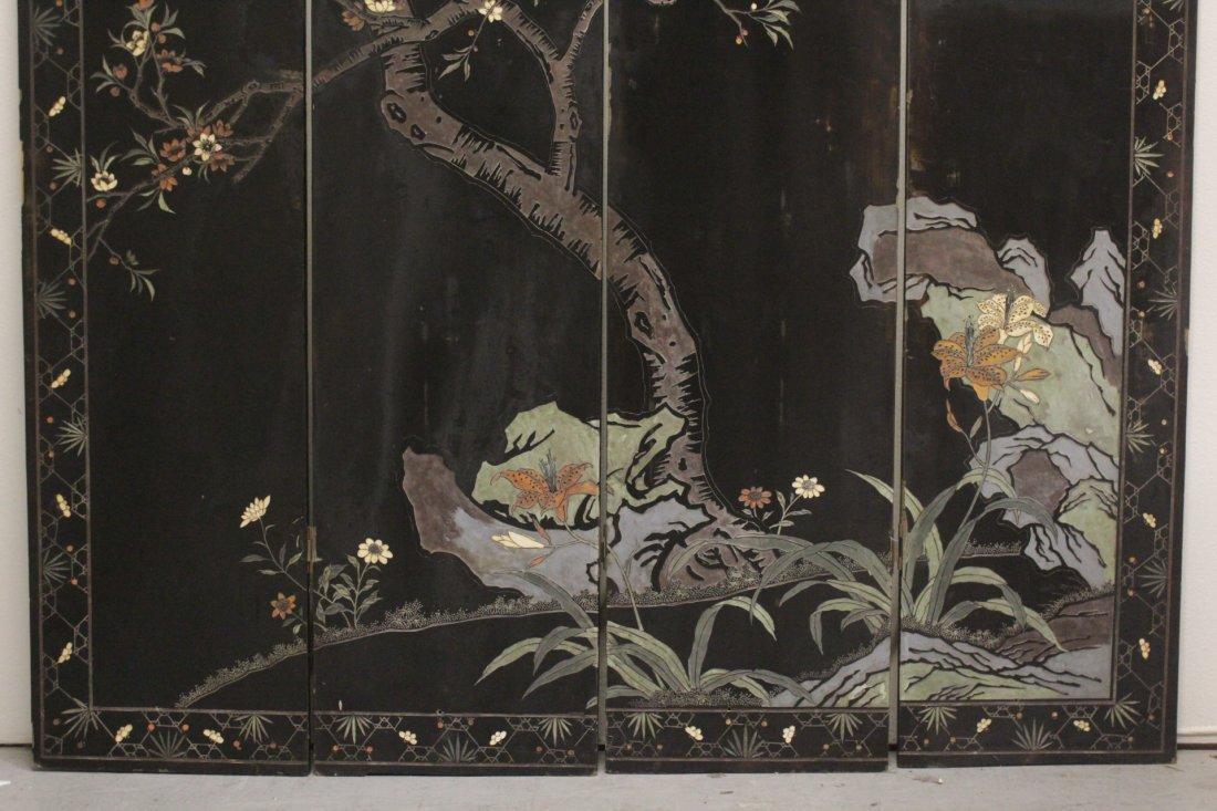 Chinese 4-panel coromandel screen - 10