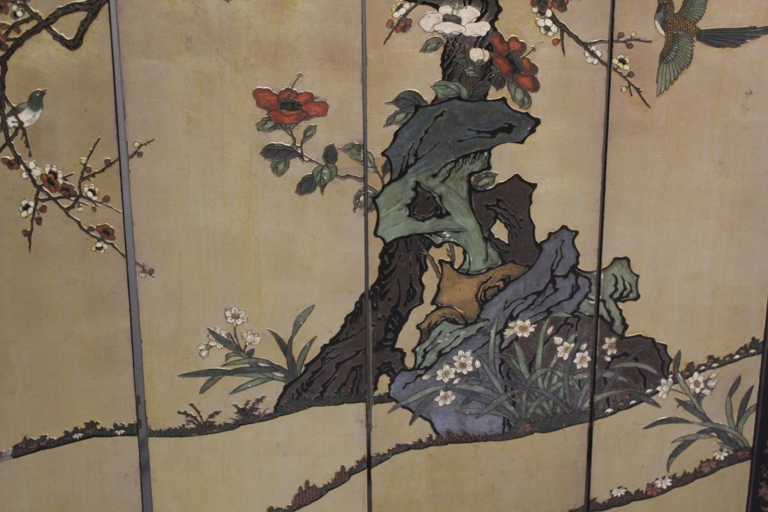 Chinese 4-panel coromandel screen - 5
