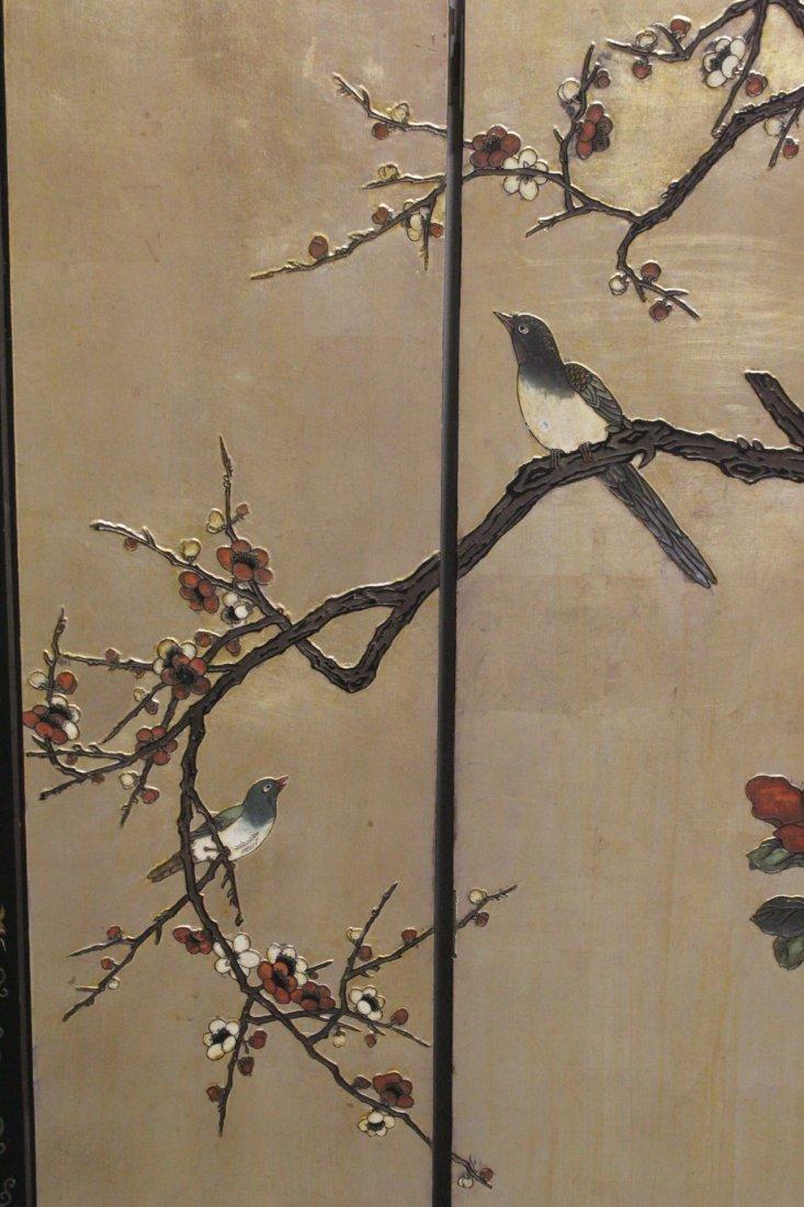 Chinese 4-panel coromandel screen - 6
