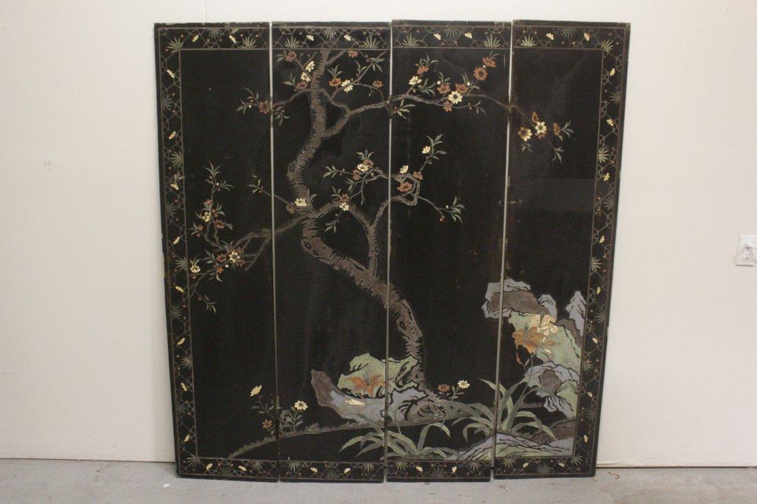 Chinese 4-panel coromandel screen - 8