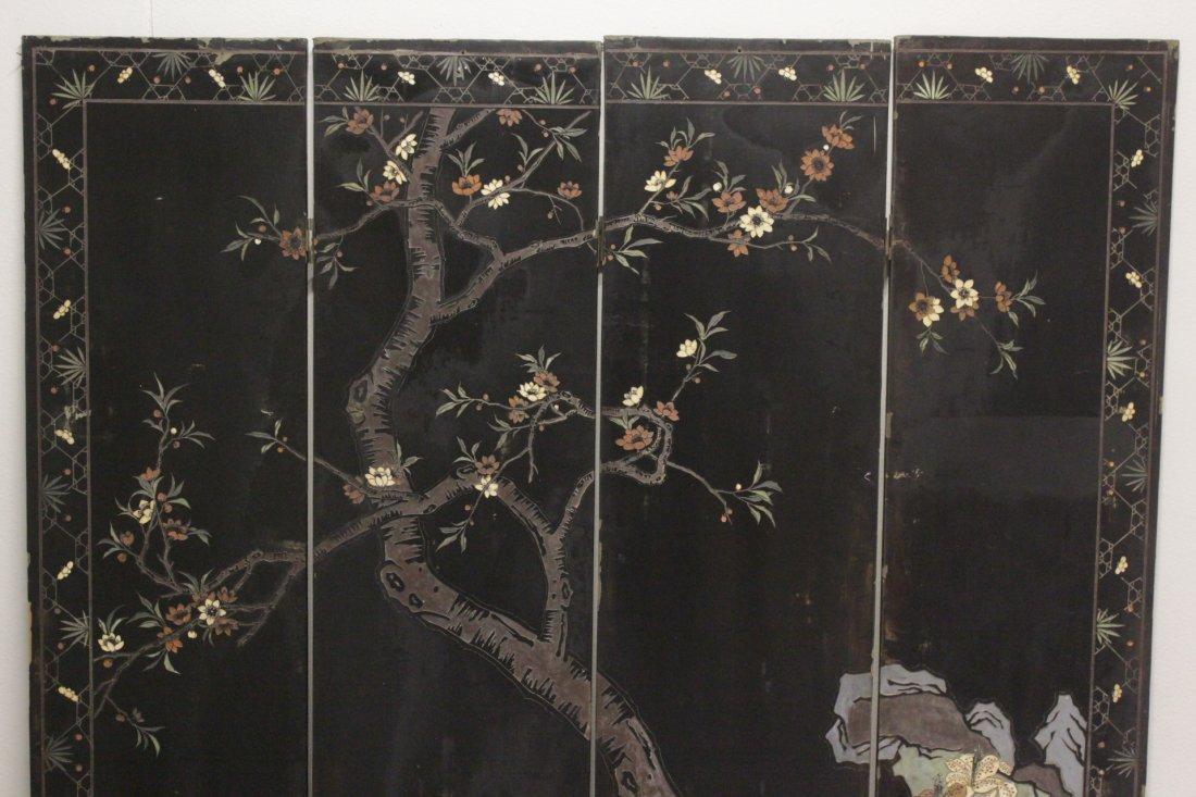 Chinese 4-panel coromandel screen - 9