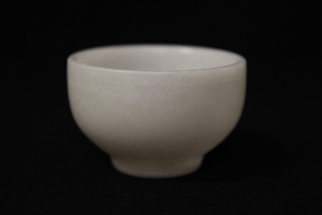 5 pieces white Peking glass tea set - 10
