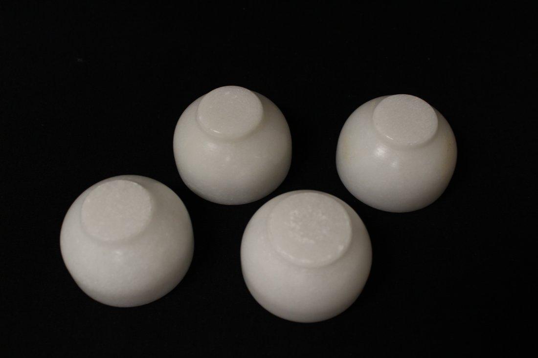 5 pieces white Peking glass tea set - 9