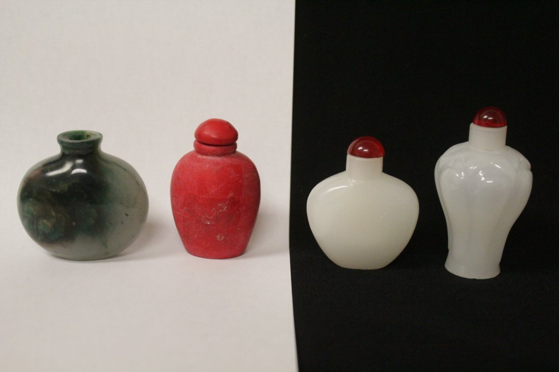 4 Peking glass snuff bottles