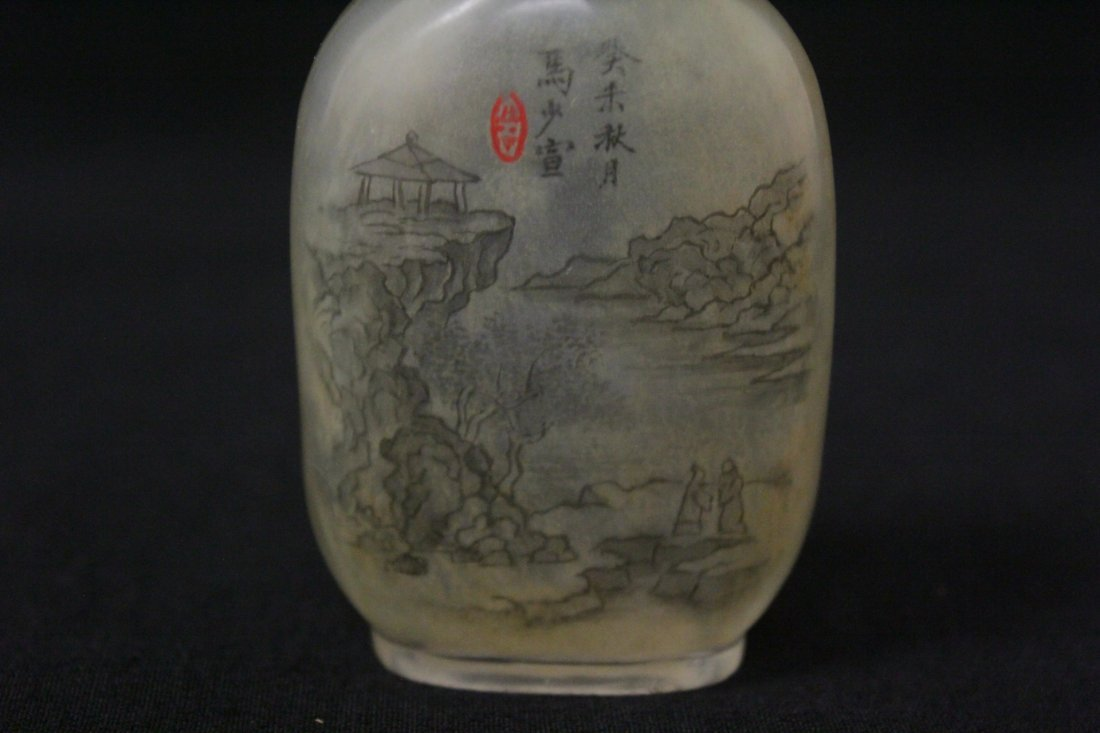 Chinese reverse painted snuff bottle - 4