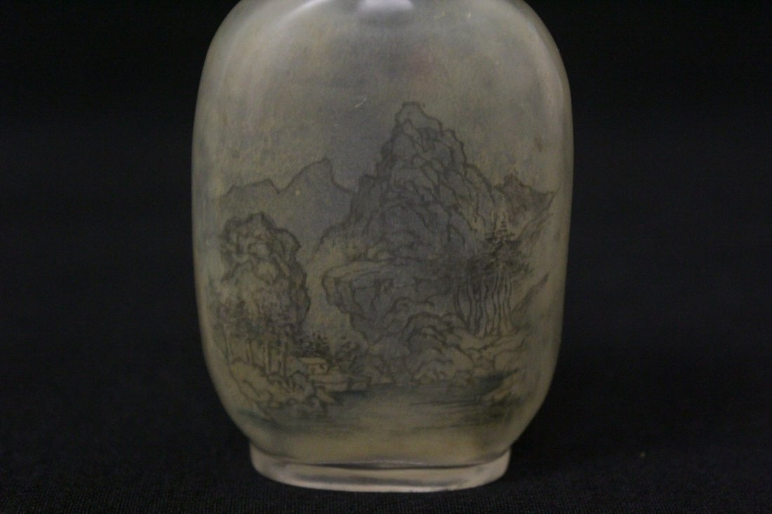 Chinese reverse painted snuff bottle - 6