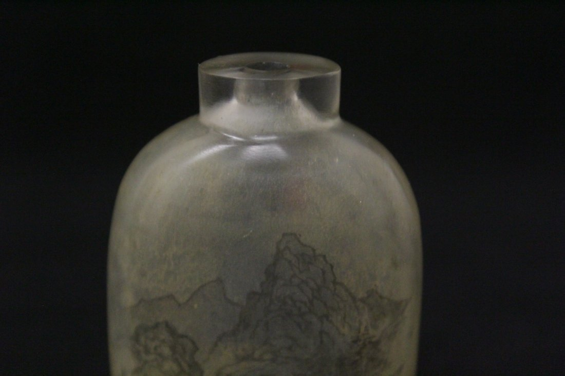 Chinese reverse painted snuff bottle - 7
