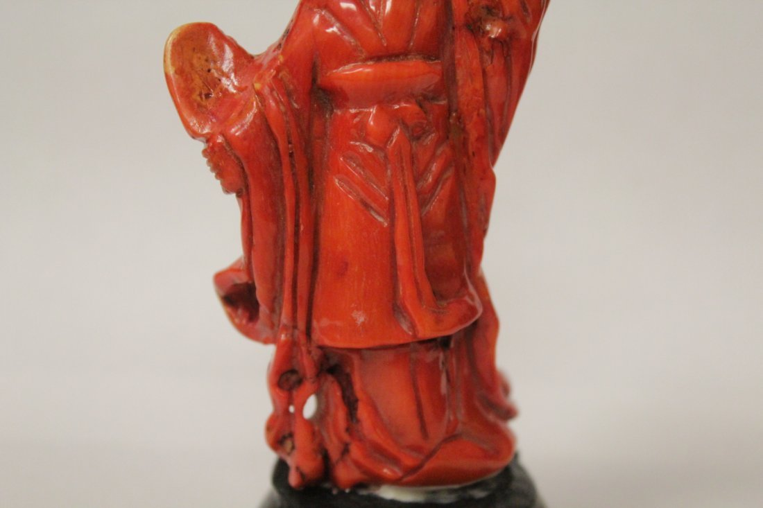 Coral like stone carved Guanyin - 7