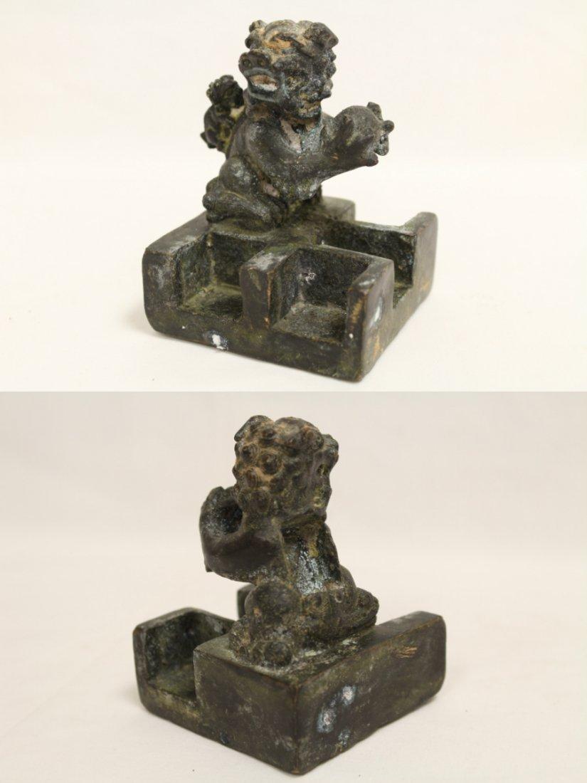 Chinese bronze seal set - 3