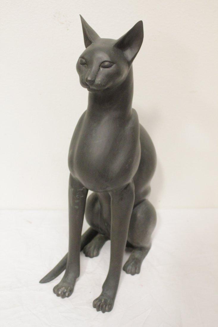 Bronze sculpture of cat - 3