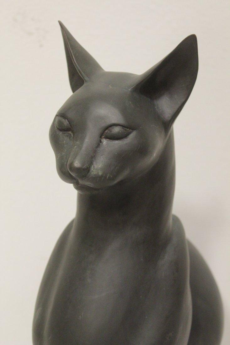 Bronze sculpture of cat - 4