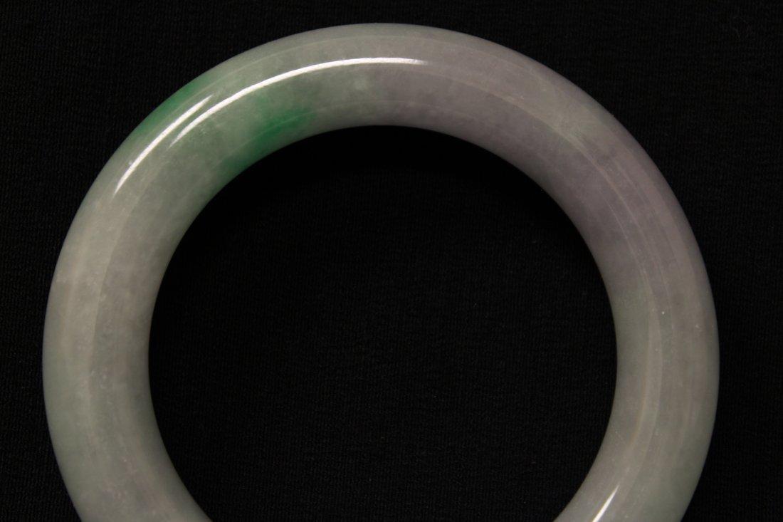Translucent jadeite bangle bracelet - 6
