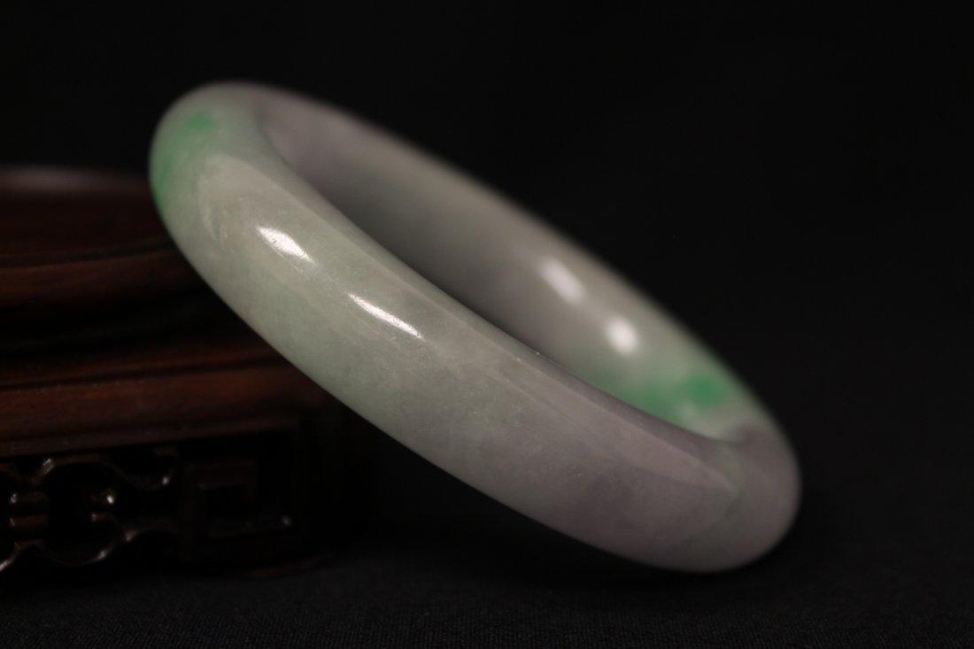 Translucent jadeite bangle bracelet - 8
