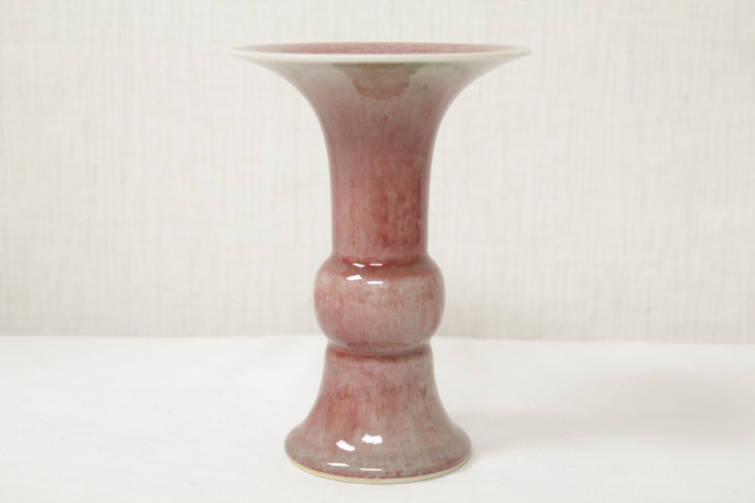 Chinese copper red porcelain trumpet vase