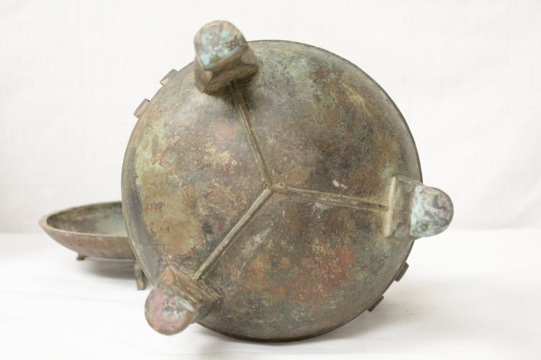 Chinese bronze ding - 9
