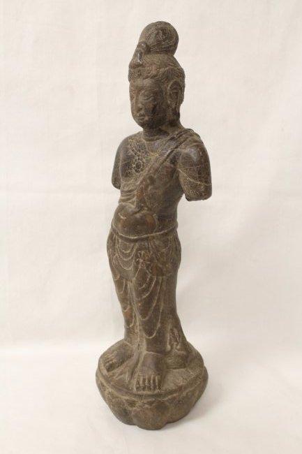 Chinese stone standing Buddha - 4