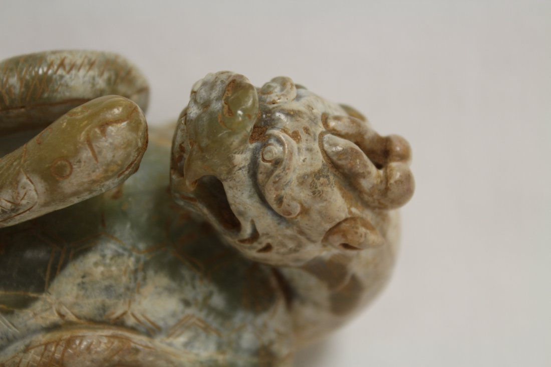 Chinese jade carved qilin - 9
