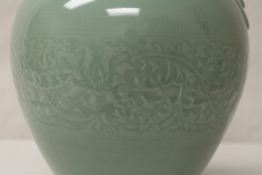 Chinese celadon porcelain vase - 4