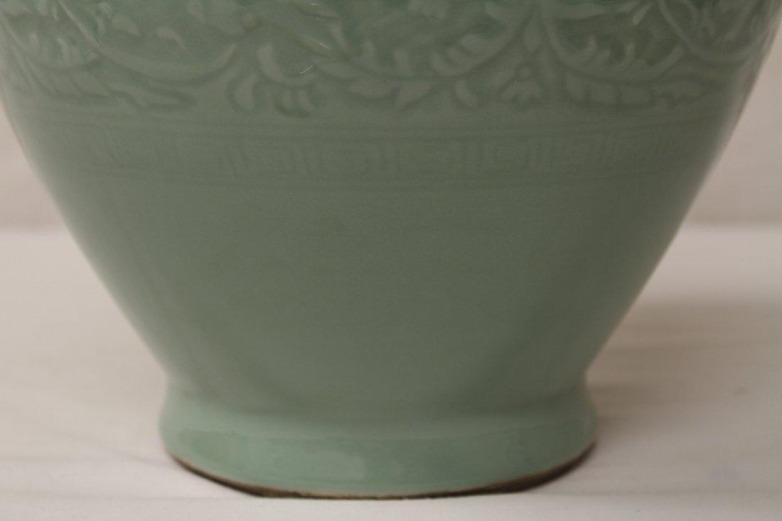Chinese celadon porcelain vase - 5