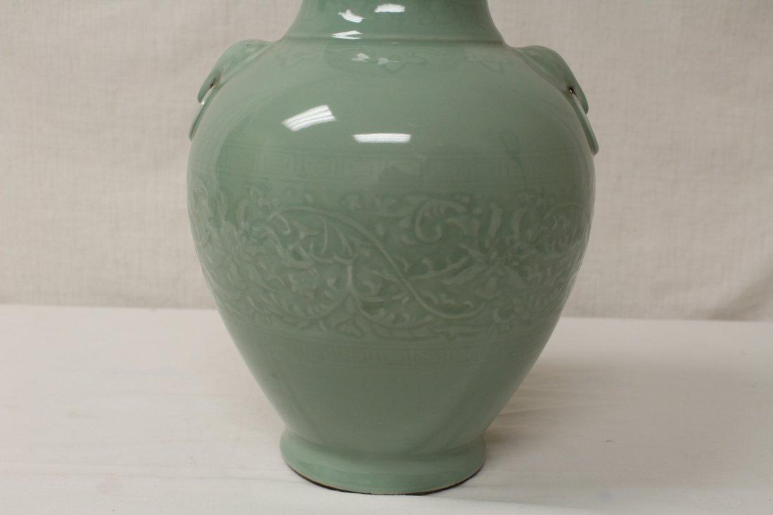 Chinese celadon porcelain vase - 9