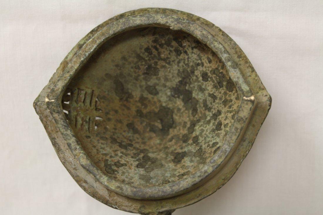 Unusual shape bronze covered censer - 9