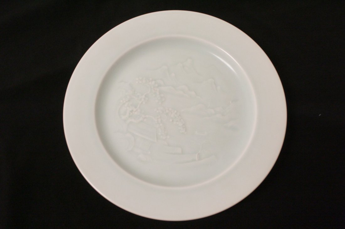 Chinese sky blue porcelain plate - 10