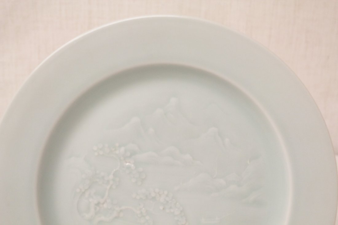 Chinese sky blue porcelain plate - 2