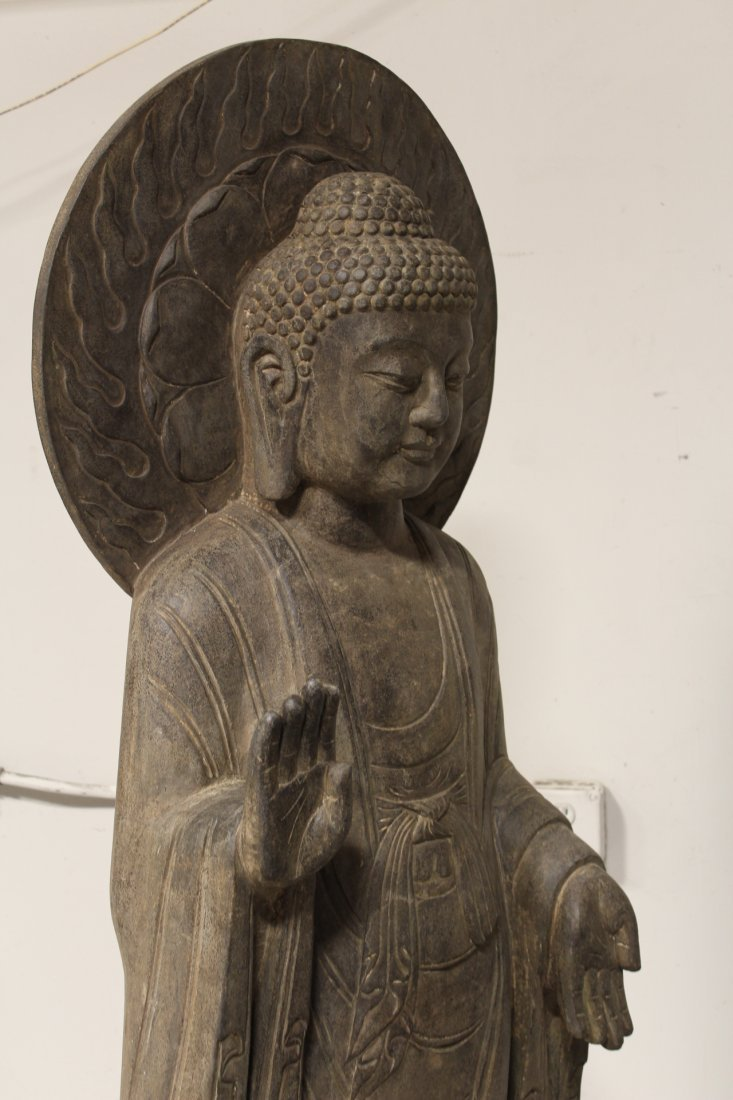 life size Chinese vintage stone carved Buddha - 10