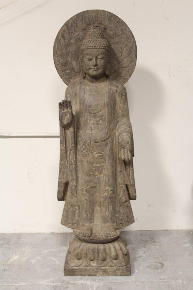life size Chinese vintage stone carved Buddha