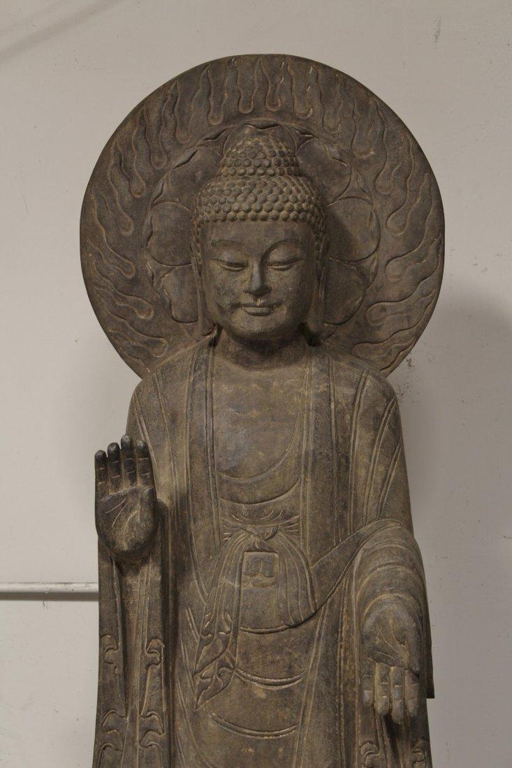 life size Chinese vintage stone carved Buddha - 2