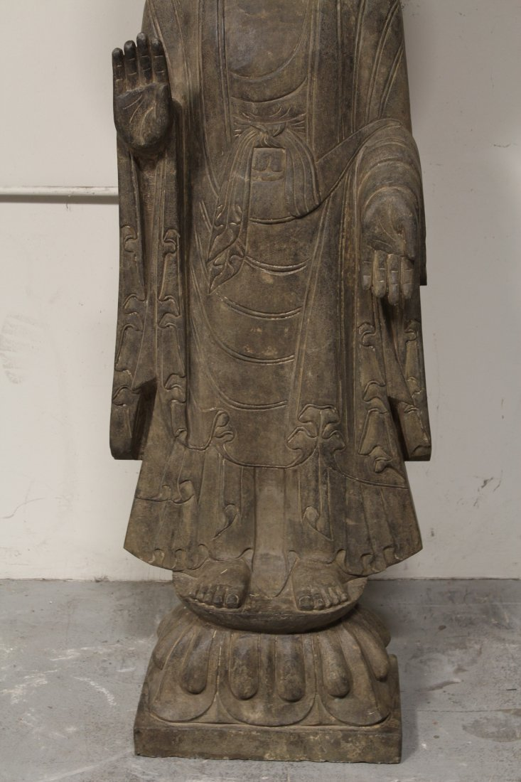 life size Chinese vintage stone carved Buddha - 3