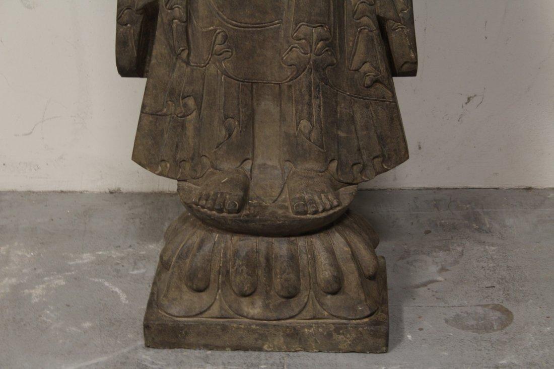 life size Chinese vintage stone carved Buddha - 4