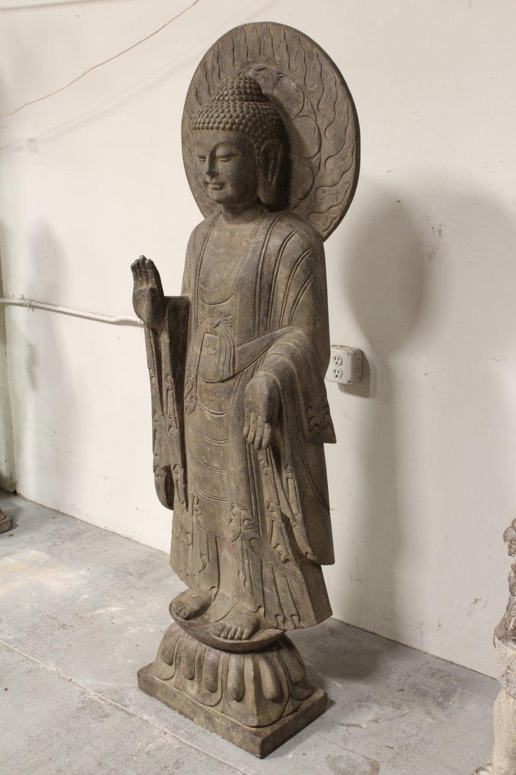 life size Chinese vintage stone carved Buddha - 5