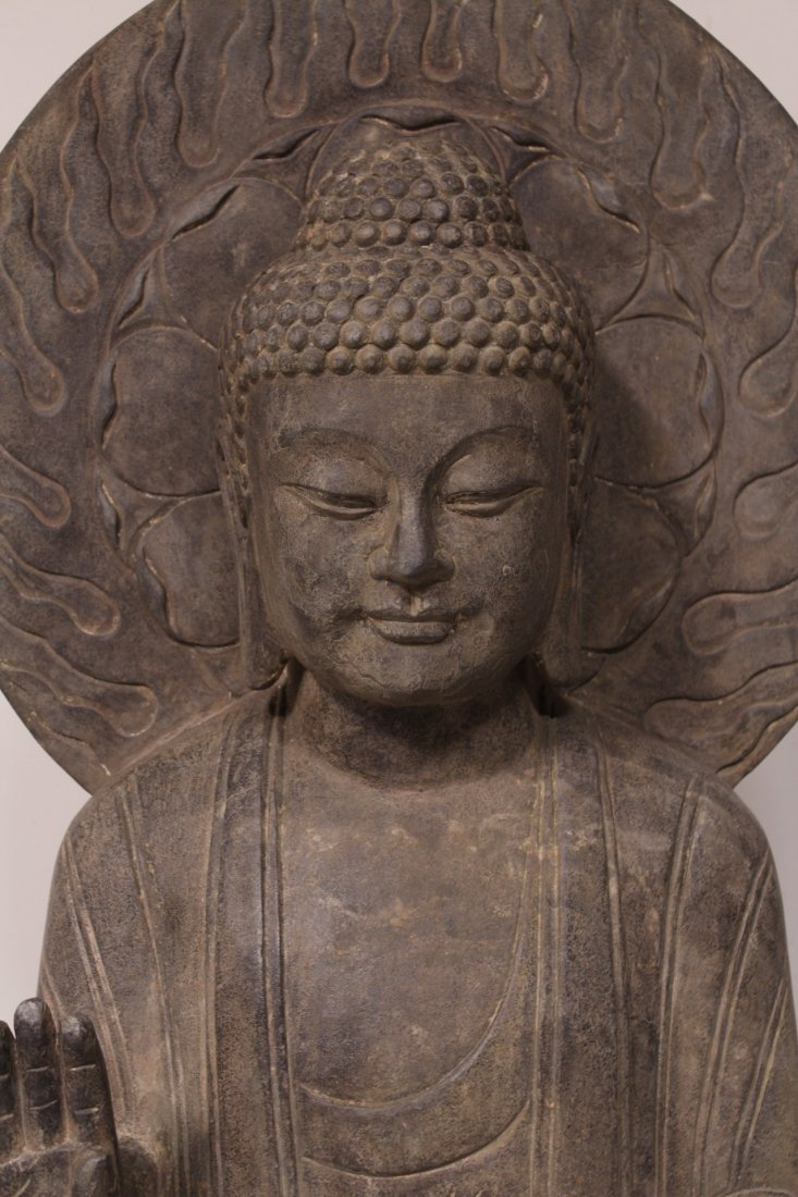life size Chinese vintage stone carved Buddha - 6