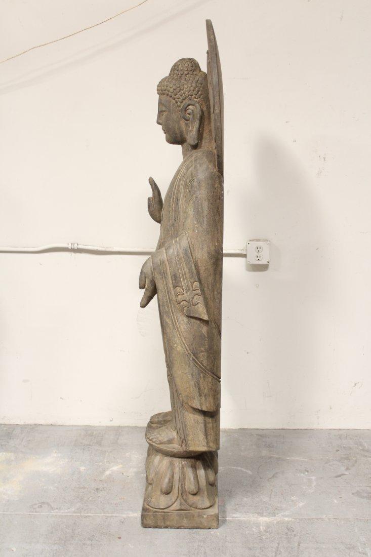 life size Chinese vintage stone carved Buddha - 7