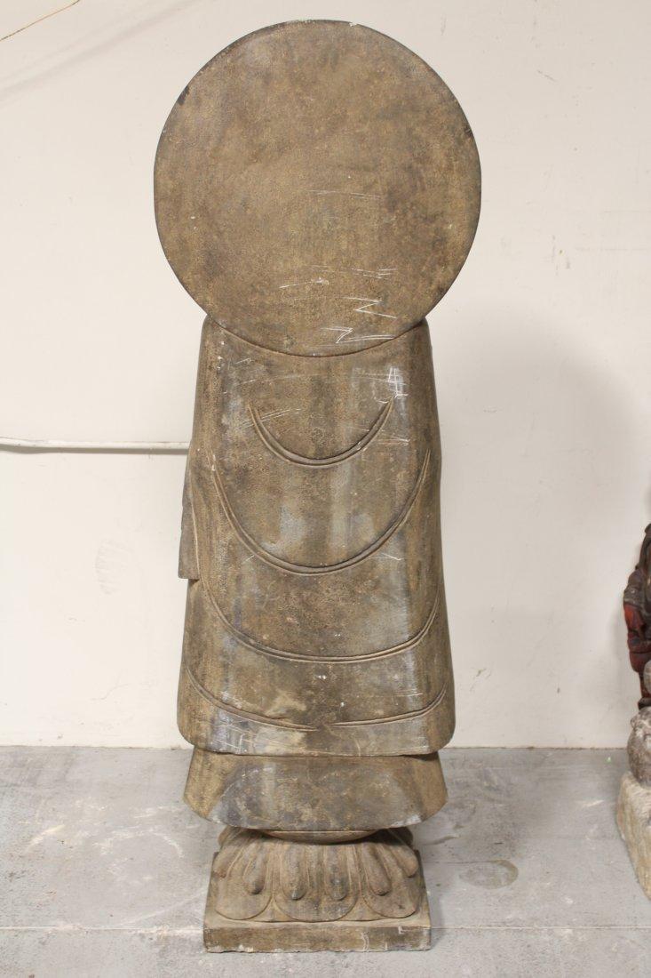 life size Chinese vintage stone carved Buddha - 8