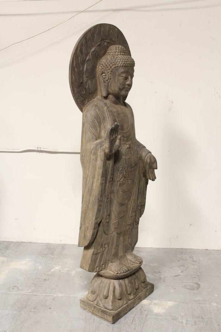 life size Chinese vintage stone carved Buddha - 9